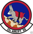 STICKER USAF  22ND AIRLIFT SQUADRON