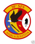 STICKER USAF  20TH SECURITY FORCES SQUADRON