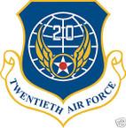 STICKER USAF  20th AIR FORCE