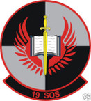 STICKER USAF  19TH SPECIAL OPERATIONS SQUADRON