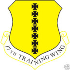 STICKER USAF  17TH TRAINING WING