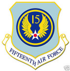 STICKER USAF  15TH AIR FORCE