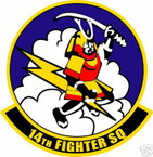 STICKER USAF  14TH FIGHTER SQUADRON
