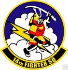 STICKER USAF  14TH FIGHTER SQUADRON