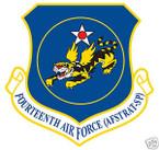 STICKER USAF  14TH AIR FORCE
