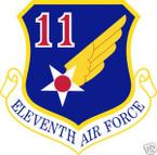STICKER USAF  11TH AIR FORCE