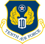 STICKER USAF  10TH AIR FORCE