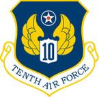 STICKER USAF  10TH AIR FORCE