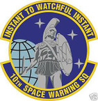 STICKER USAF  10th SPACE WARNING SQUADRON