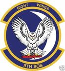 STICKER USAF   9TH SPECIAL OPERATIONS SQUADRON