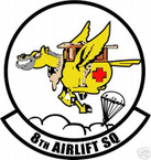 STICKER USAF   8TH AIRLIFT SQUADRON C-141 DECAL