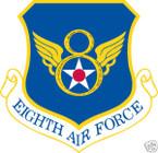 STICKER USAF   8TH AIR FORCE