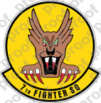 STICKER USAF   7TH FIGHTER SQUADRON