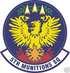 STICKER USAF   5TH MUNITIONS SQUADRON