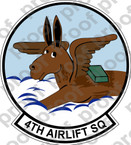 STICKER USAF   4TH AIRLIFT SQUADRON C-141 DECAL