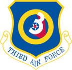 STICKER USAF   3RD AIR FORCE
