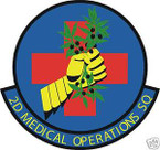 STICKER USAF   2ND MEDICAL OPERATIONS SQUADRON