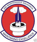 STICKER USAF   2ND MAINTENANCE SQUADRON