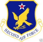 STICKER USAF   2ND AIR FORCE