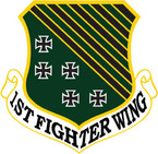 STICKER USAF   1ST FIGHTER WING B