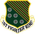 STICKER USAF   1ST FIGHTER WING B