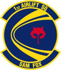 STICKER USAF   1ST AIRLIFT SQUADRON