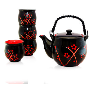 TEA SET - BLACK BEAUTY