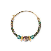 Holly Yashi Sonoma Petite Glass Bead Hoop Earrings (Rainbow Mist)