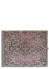 Silver Filigree Blush Pink Guest Book Lined
