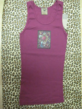 KBD Ruby Tropical Floral Tank with Swarovski Crystals