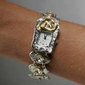 J Jansen Designs - Non-Tarnish Silver Finish Watch with Swarovski Crystals