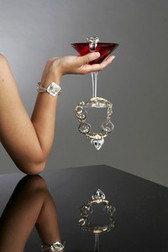 J Jansen Designs - Clear Swarovski Crystal Necklace in Silver Finish