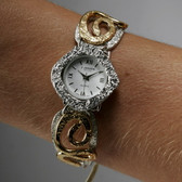 J Jansen Designs - Silver/Gold Spiral Design Watch