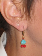Joli Jewelry -  Blue Flower Earrings