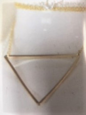 Gold-Filled 1.5 inch triangle, 16 inch chain