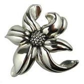 Flower pin SP1136 925 Sterling silver Made in Israel by Simon Sebbag Designs
