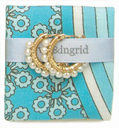 Viv & Ingrid Small Wrap Hoop Gold/White Pearl