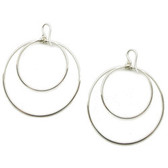Viv & Ingrid Medium Silver Round Double Hoop