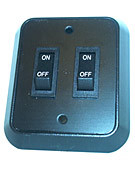 Double wall switch, 12 volt only