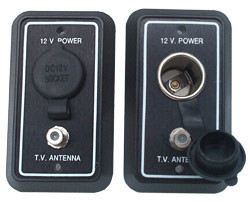 12 volt outlet with extra coax hook up for TV