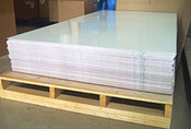 .040 White Aluminum sheeting for your fish house, 4' x 8'