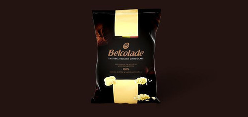 Belcolade White Belgium Chocolate Buttons 5kg bulk bag.