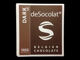Desocolat Dark Belgium Chocolate Buttons 56% 10kg bulk box.