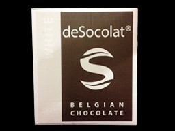 Desocolat White Belgium Chocolate Buttons 10kg bulk box.