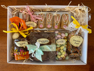 Easter chocolates and more. A hamper for the everyone to enjoy.