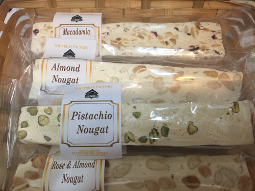 Pistachio Nougat handcrafted at The Treat Factory Berry.