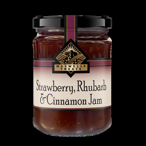 Strawberry Rhubarb & Cinnamon Jam Maxwells Treats The Treat Factory