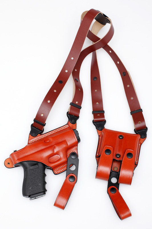 Premium Leather Shoulder Holster Set