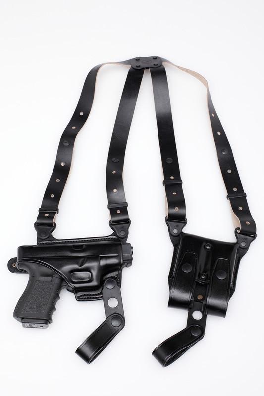 Premium Leather Shoulder Holster Set