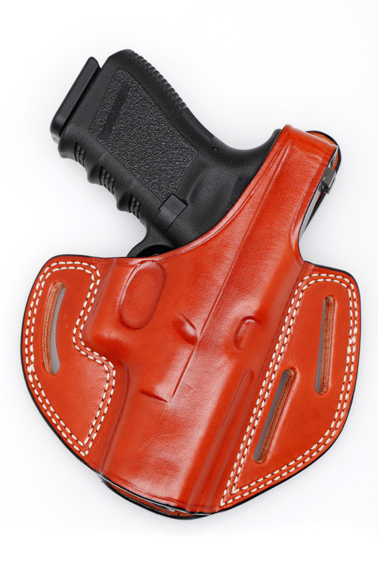 J&J RUGER SR9C SR40C OWB BELT CARRY CUSTOM FORMED LEATHER HOLSTER W